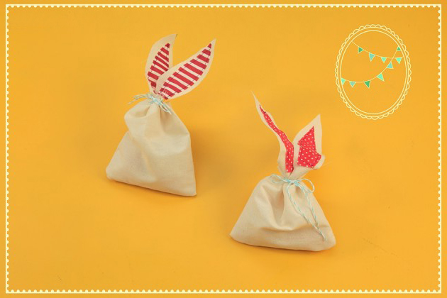 easter sewing crafts bunny treat bags easy project