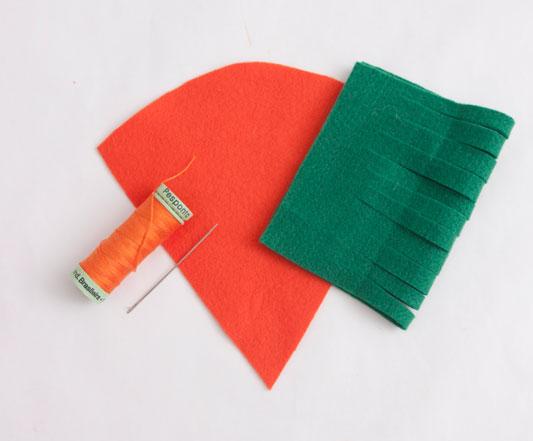 carrot materials easter wreath ideas