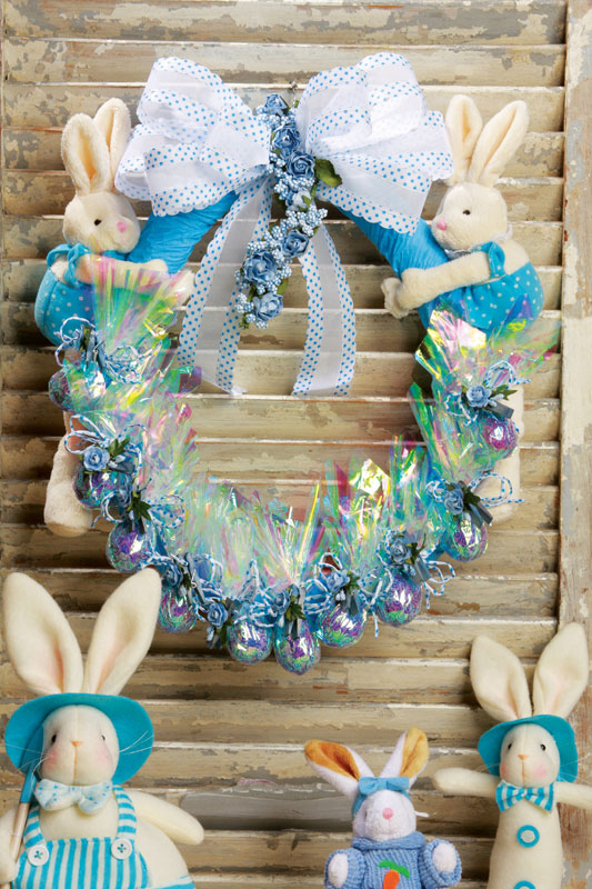 cheap and easy holiday handmade crafts easter wreath ideas