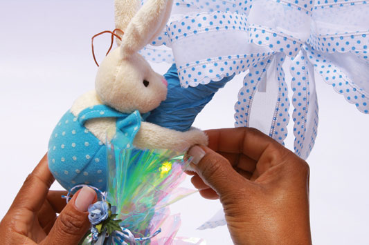 cute decorative bunny ornament easter wreath ideas