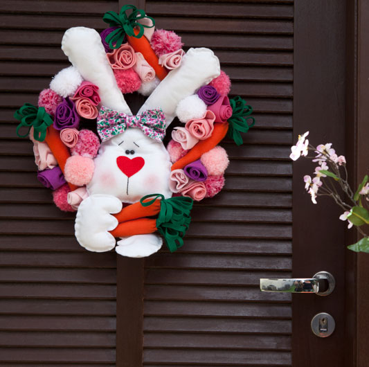 kids ideas easter wreath ideas decorative rabbits and eggs decorations
