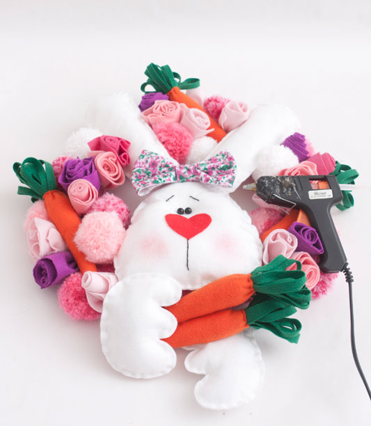 big fabric carrots easter wreath ideas