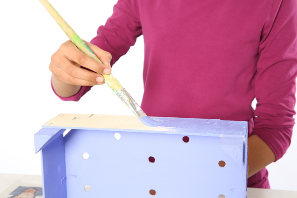 Handmade Mother's day gift idea tutorial kids wooden crate painting