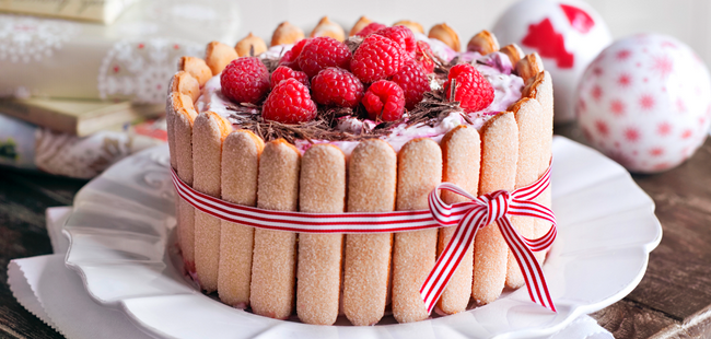 mothers day cake recipe raspberry charlotte ladyfingers ribbon