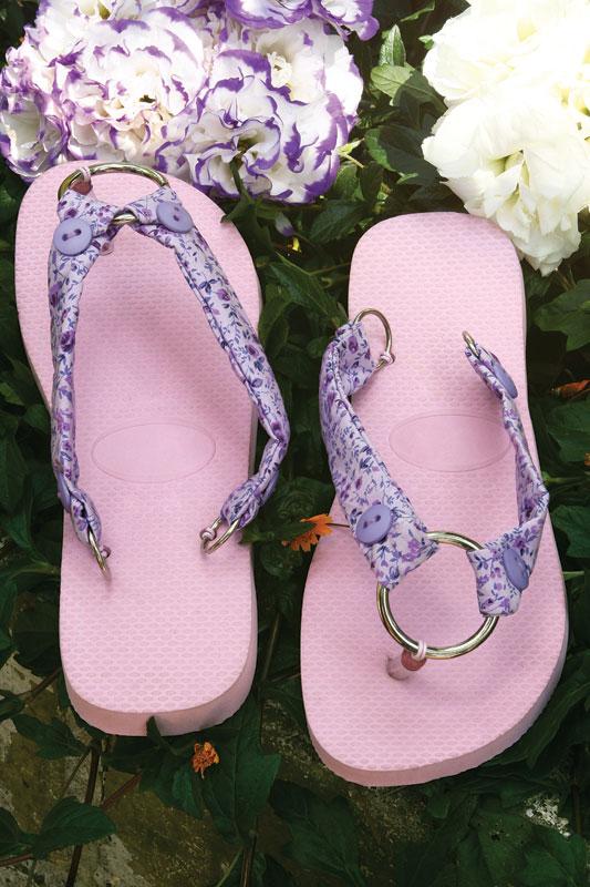 diy flip flop ideas fabric scraps pink purlpe