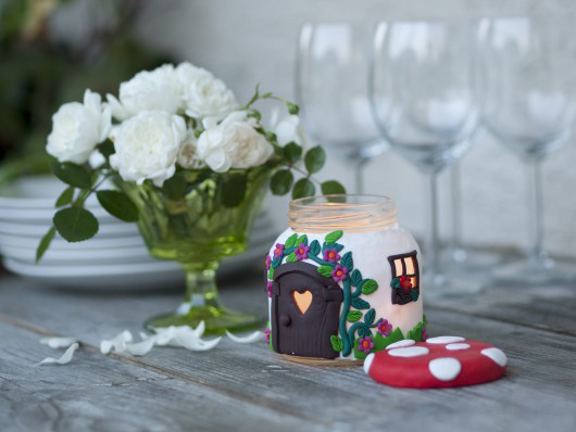 handmade souvenir gift project glass jar craft
