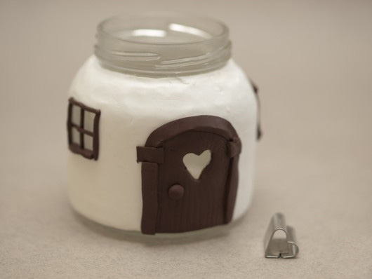 souvenir candle holder design glass jar craft polymer clay