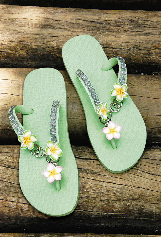green rubber flip flop ideas decorating ideas flowers homemade
