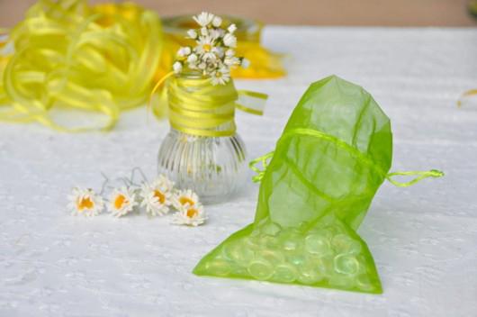 tablecloth weights craft idea gems bags summer garden table