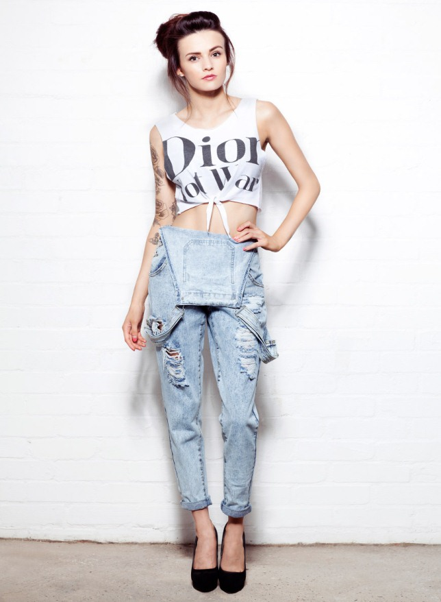 ways wear crop top summer jeans dior t-shirt