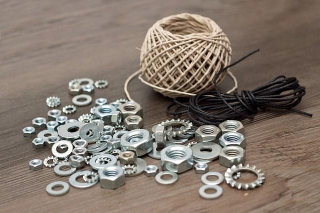 diy twine metal adornment braided hex nut bracelets