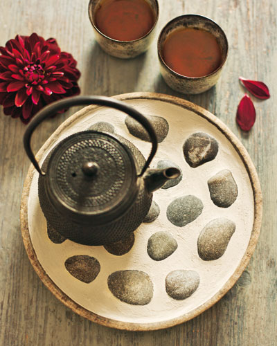 coaster stones old dish and teapot diy home decor ideas