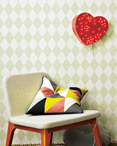 wall cardboard lamp light heart diy home decor ideas