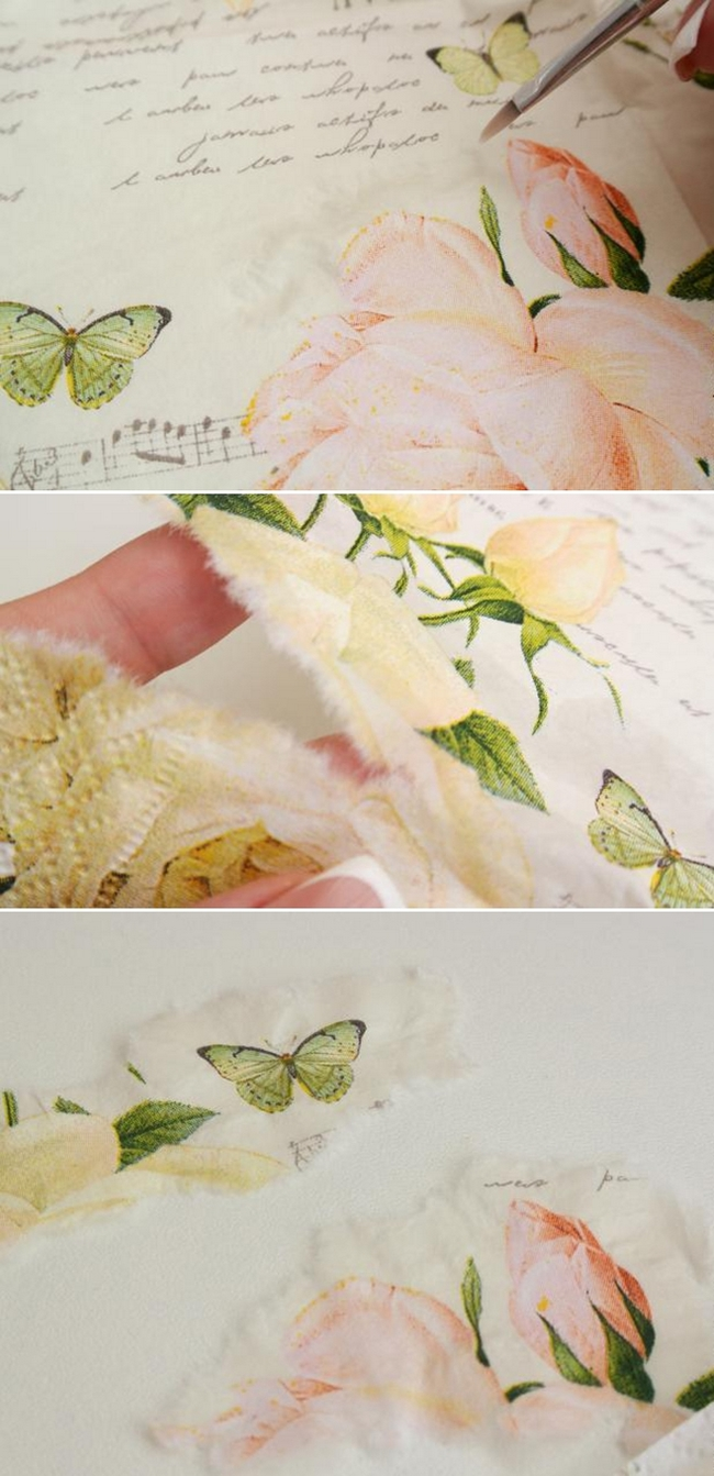 diy bangles decoupage tutorial napkin rose motif