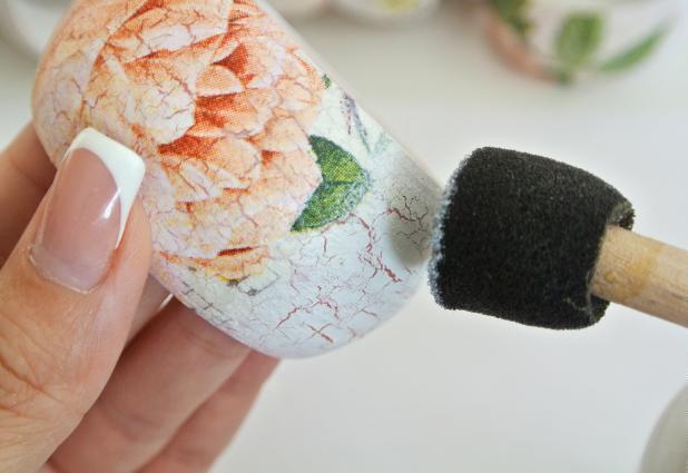 diy bangles foam stencil brush white acryl paint