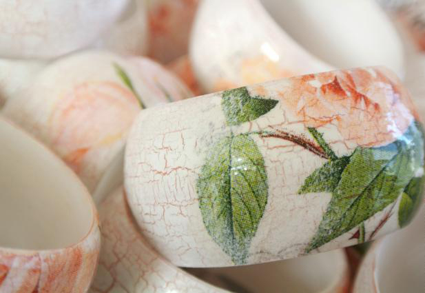 diy bangles tutorial decoupage crackle effect