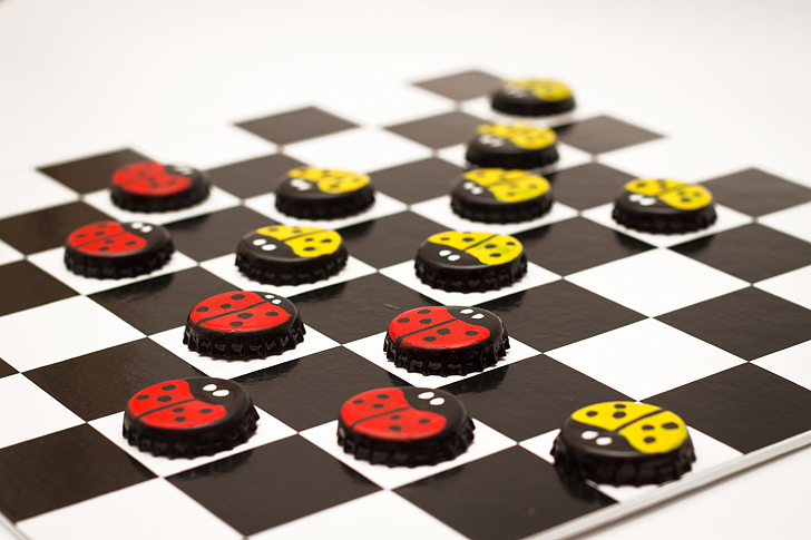 how to make bottle cap checkers diy board game