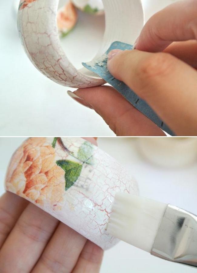diy bracelet tutorial bangles sand laquer step-by-step