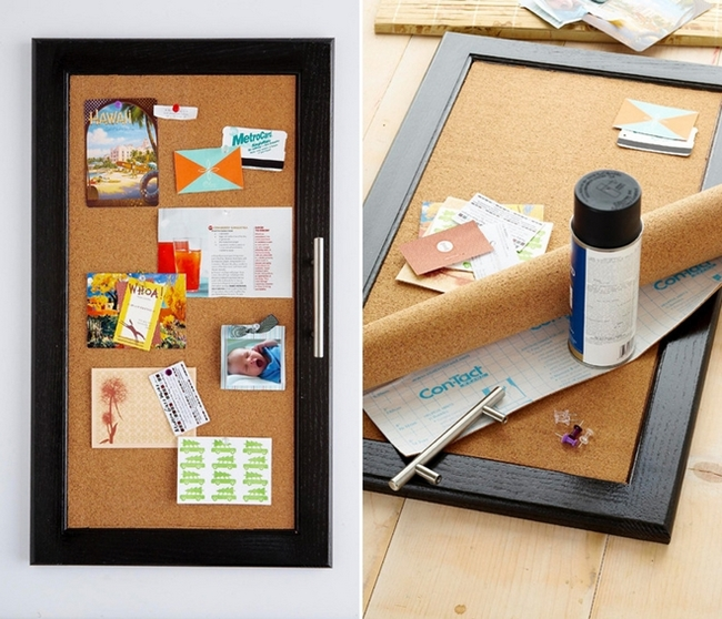 Diy Kitchen Cabinet Ideas Makeover Corkboard Pinboard
