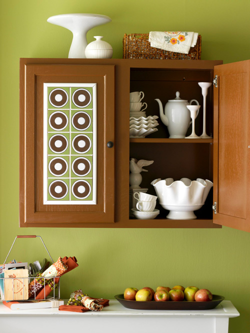 kitchen cabinet ideas makeover small tiles circles modern cheap