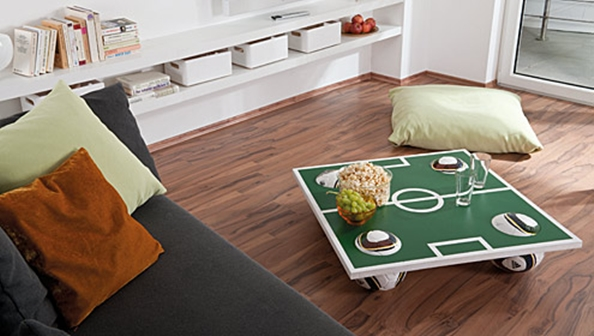 world cup themed party decor coffee table idea