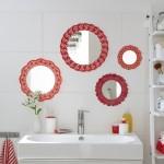 DIY bathroom decor on a budget – Cute wall mirrors idea