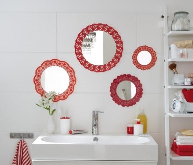 Diy bathroom decor on a budget cute wall mirrors idea for Bathroom decor on a budget