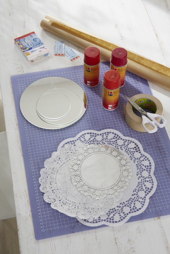 diy bathroom decor on a budget mirror crafts doilies spray paint tutorial