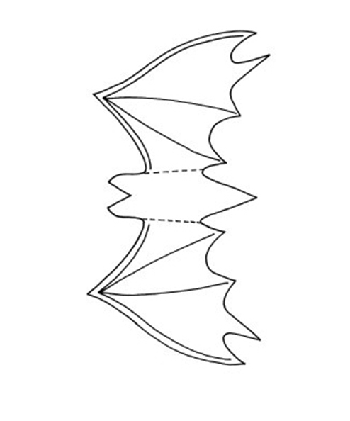 diy halloween decorations paper crafts bat template - Bat Halloween Decorations