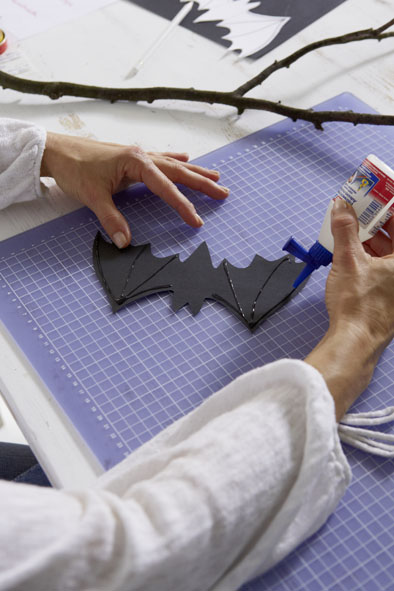 diy halloween decorations party paper bats adhesive wings
