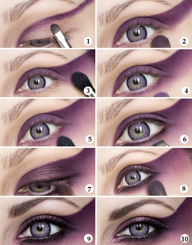halloween makeup ideas for girls eye tutorial purple magic