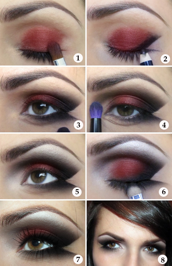 makeup for halloween ideas tutorial lady vamp black red