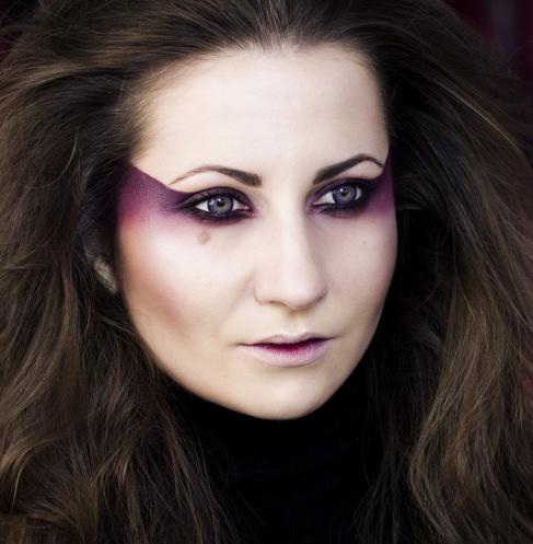makeup for halloween face ideas women purple magic