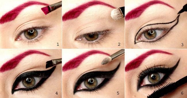 halloween makeup ideas women villain red eyebrows