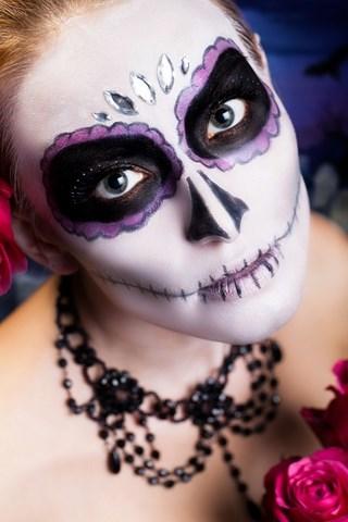 sugar skull makeup for Sugar Skulls Face Paint Black And White