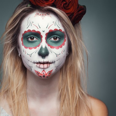 mexican day of dead green eye shadow holiday makeup sugar skull