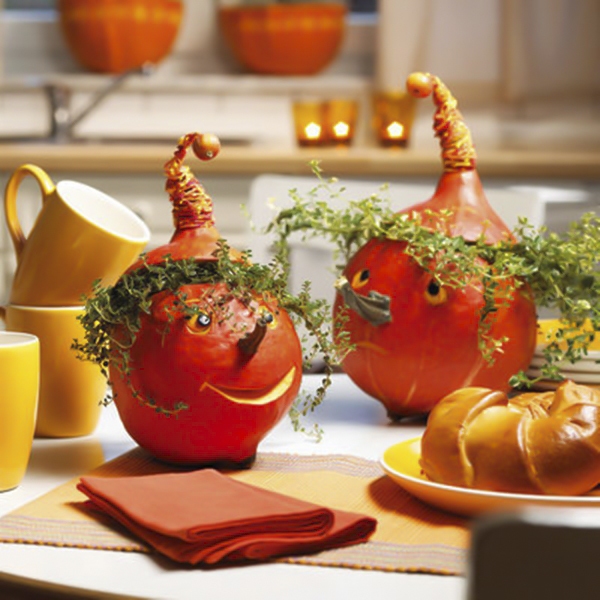 diy fall decorating ideas hokkaido pumpkins lemon thyme hair