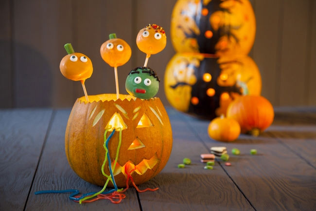 Diy Halloween Party Decorations Cake Pops Fruit Strings