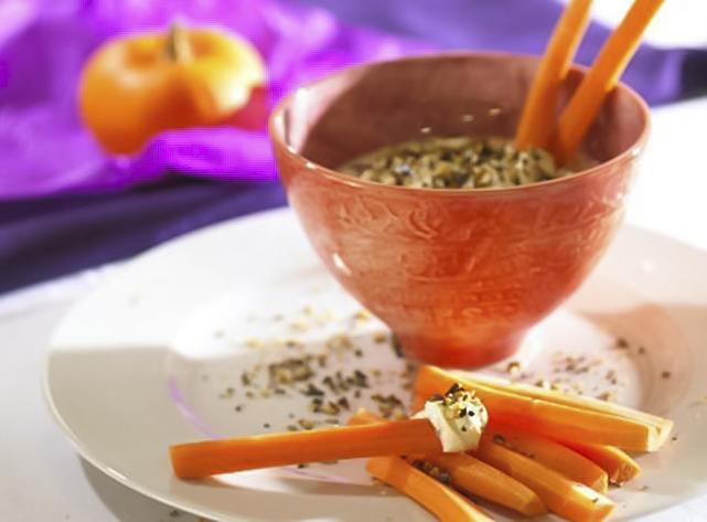 easy pumpkin seed dip recipe carrot sticks