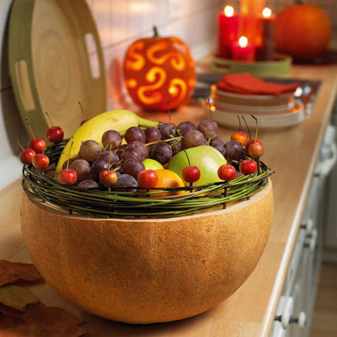 fall-decorating-ideas-diy-pumpkin-fruit-bowl