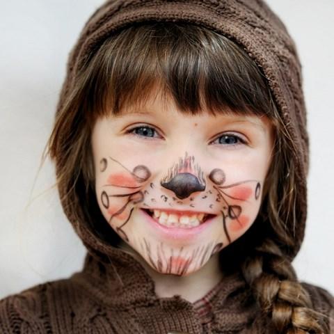 face makeup ideas creative cute squirrel motif funny diy kids face