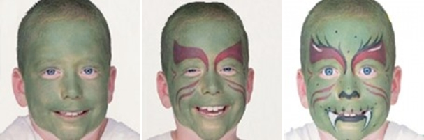 halloween-face-makeup-ideas-kids-boy-little-green-dragon