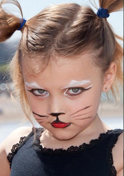 16 cute and easy Halloween face makeup ideas for kids - Little Girl Halloween Makeup