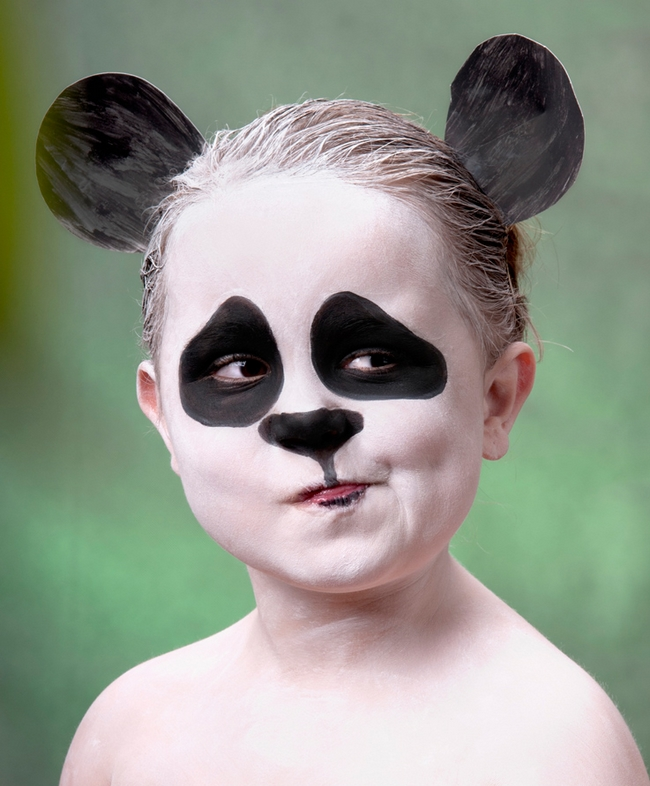 halloween face makeup ideas kids little panda bear