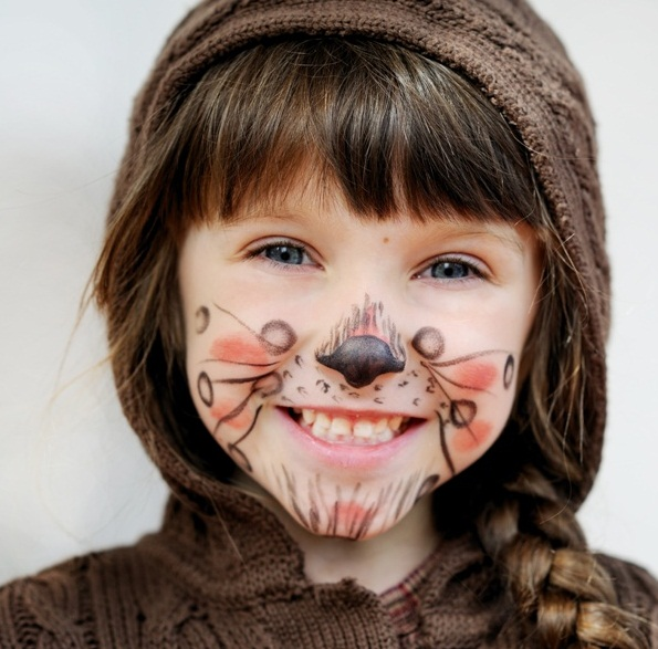 16 cute and easy Halloween face makeup ideas for kids - Diy Halloween Face Makeup