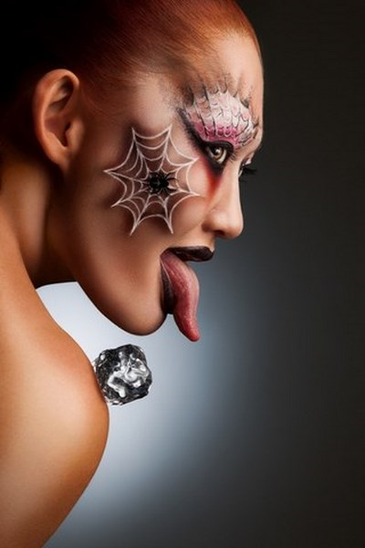 monstrous devil halloween makeup inspirations red hair female spiderman style
