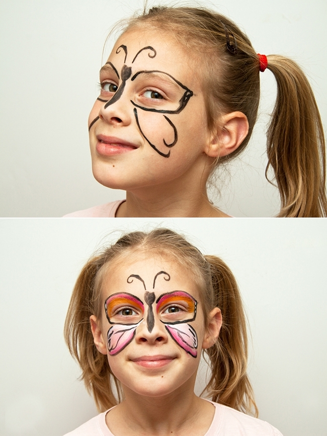 16 cute and easy Halloween face makeup ideas for kids - Cute Makeup Ideas For Kids