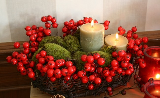 diy christmas candle centerpieces – 40 ideas for your table