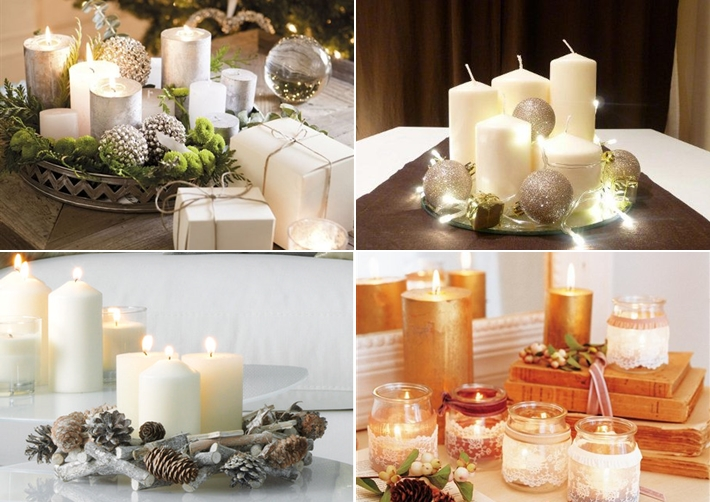 diy christmas candle centerpieces  u2013 40 ideas for your table