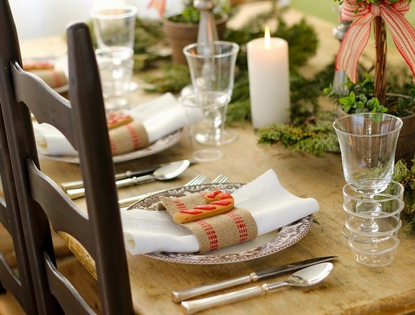 brown traditional color palette christmas table setting ideas eco style serving green beige